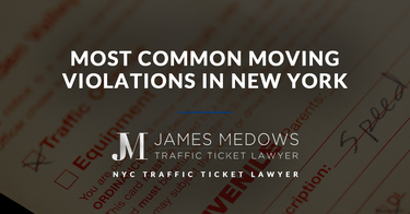 Most Common Moving Violations in New York