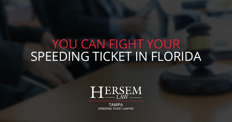 You Can Fight Your Speeding Ticket in Florida - Law Firm Article By